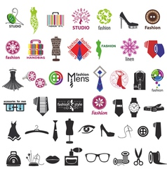 series of logos for clothing and fashion vector image