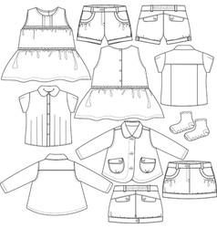 Set for girls vector image