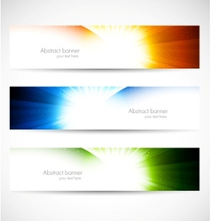 Set of shiny banners vector image