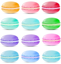 Set of sweets biscuits macaroon vector