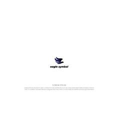 simple modern eagle falcon hawk wing logo design vector image