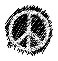 Sketch doodles of peace symbol vector