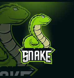 Snake esport mascot logo design vector