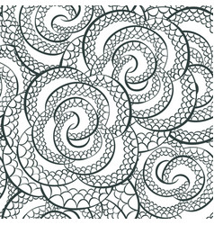 snake pattern ornament for textile fabric vector image
