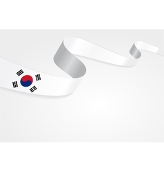 South Korean flag background vector image