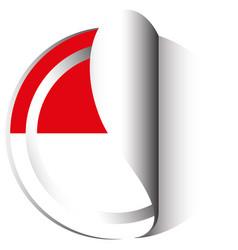 Sticker design for indonesia vector