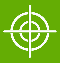 target crosshair icon green vector image