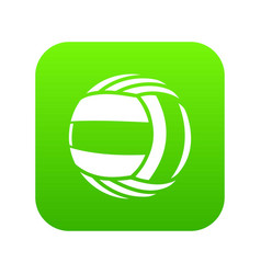 Volleyball icon green vector