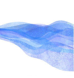 watercolor transparent wave blue purple lavender vector image