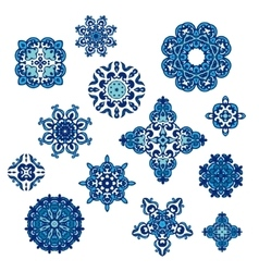 Winter Pattern Elegant floral abstract elements vector