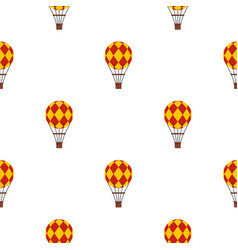yellow and red hot air balloon pattern seamless vector image