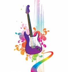funny guitar vector image vector image