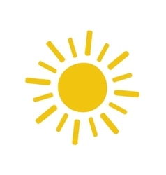 Painted yellow sun icon vector