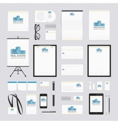 Real estate corporate style template vector image vector image