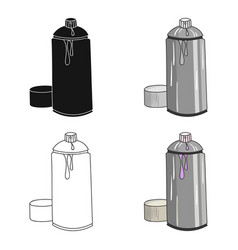 spray paint can icon in cartoon style isolated on vector image