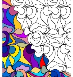abstract seamless fantasy pattern hand drawn vector image vector image