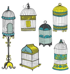 Birdcages Collection vector image