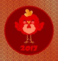 golden rooster 2017 vector image vector image