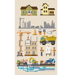 building and construction vector image vector image