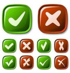 check mark buttons collection vector image vector image