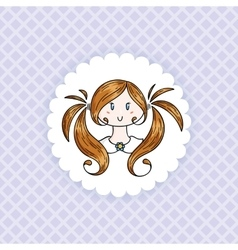 Doodle child vector image vector image
