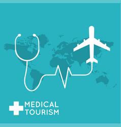 medical tourism flat design modern vector image
