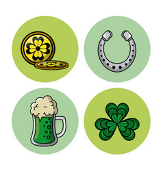 saint patricks days elements vector image vector image