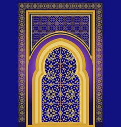 Islamic architecture ornamental backround vector