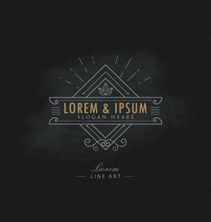 luxury logos elegant flourishes calligraphy vector image