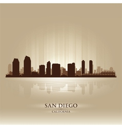 San Diego California skyline city silhouette vector image