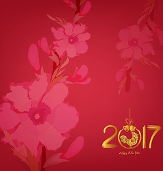 Abstract chinese new year 2017 graphic and vector