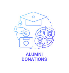 Alumni donations concept icon vector