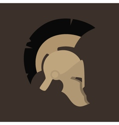 Antiques Roman Helmet Isolated vector image