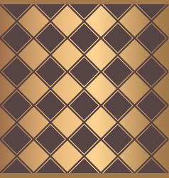 art deco pattern golden squares lines background vector image