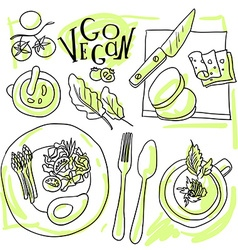 Assorted vegetable vector image