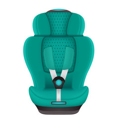 baby car seat isolated on a white background vector image