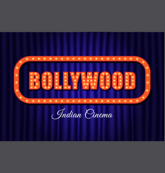 bollywood indian cinema vintage background vector image