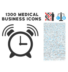 Buzzer icon with 1300 medical business icons vector