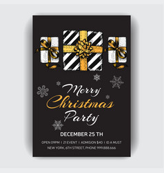 christmas party invitation design template with vector image