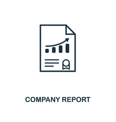 company report icon creative element design from vector image