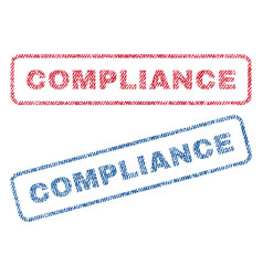 Compliance textile stamps vector