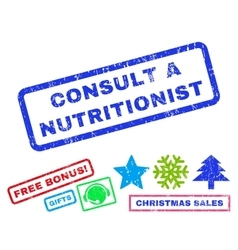 Consult a Nutritionist Rubber Stamp vector