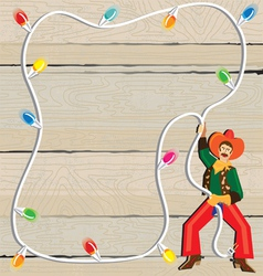 cowboy christmas lasso invitation vector image