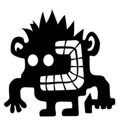 Crazy smasher cartoon silhouette vector