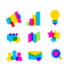 creative set of multicolor transparent business vector image
