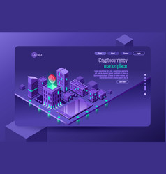 cryptocurrency commerce vector image