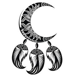 Dream catcher with moon vector