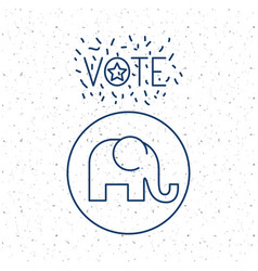 Elephant of vote inside circle concept vector