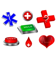 emergency collection vector image