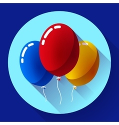 Festive multicolored air balloons icon holiday vector